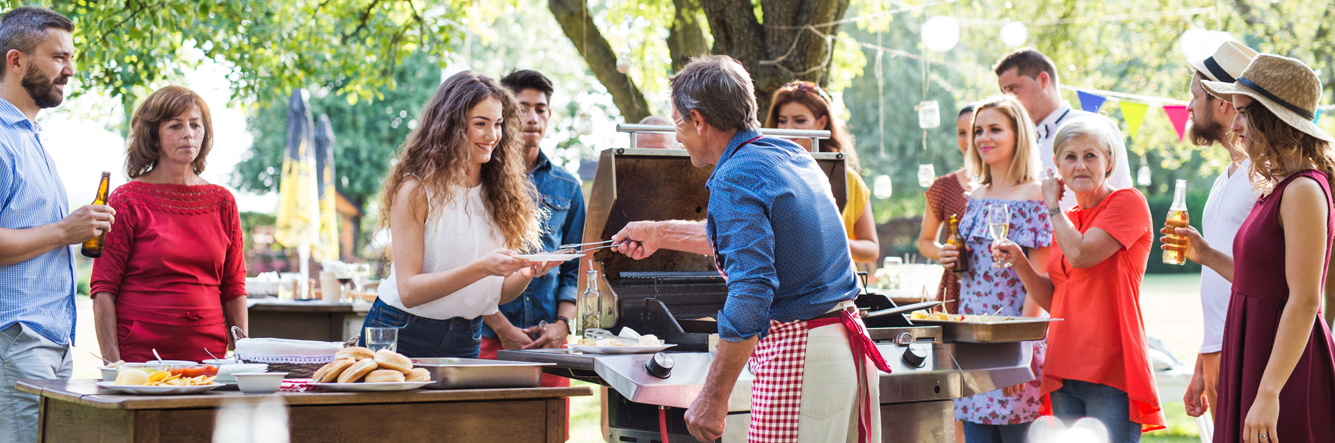 Photo of outdoor gathering, cookout